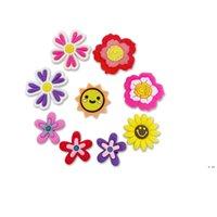 새로운 만화 꽃 PVC 고무 신발 매력 신발 액세서리 Clog Jibz 맞추기 손목 밴드 악어 버튼 신발 장식 선물 HWC7641