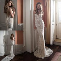 2021 Elegant White Lace Mermaid Backless Wedding Dress Sweetheart Neck Bridal Gowns Plus Size Sweep Train Stain Bride Dresses Robe De Mariee