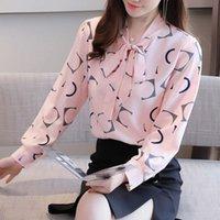 Şifon Yeni Moda Gömlek kadın Uzun Kollu Top Bahar ve Sonbahar Bluz