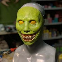 Máscara de horror de Halloween de cara blanca y blanca Eyed Weedsome Diablo Máscaras Latex 2 Color Jester Mask Party Supplies 30pcst2i52456