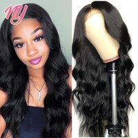 Lace Wigs Glueless Body Wave Front Wig Remy Human Hair For Women Transparent Frontal T Part