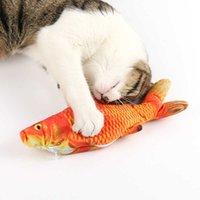 Pescado en movimiento eléctrico juguete de gato realista de pescado interactivo gato kicker catnip juguetes para gatos de interior mascotas gatito