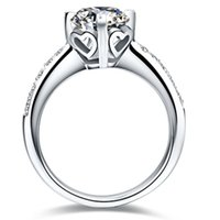 1ct Pattern Pattern Preguntas Configuración NSCD Simuló el anillo de diamante Participación para las mujeres Genuine Silver 925 Anniversary Jewelry PT950 estampado