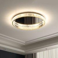 غرفة نوم حديثة فاخرة الصمام عكس الضوء أضواء السقف غرفة المعيشة كروم / الذهب K9 كريستال مصباح تركيبات