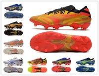 2021 선물 가방 망 낮은 발목 축구 신발 NEMEZIZ 19.1 FG 회사 지상 Cleats 메시 19 Rey Del Balon .1 축구 부츠