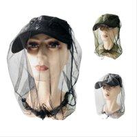 1 pz Cappuccio da pesca all'aperto Midge Zanzara Insetto Cappello da parasole Maschera Maschera Zanzara Mosanza Fly Net Camping Anti Ape Protector Cap 566 Z2
