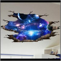 Creative 3d Universo Galaxy Adesivos de Parede para Teto Teto Selfadesive Mural Decoração Personalidade À Prova D 'Água Adesivo LCOKY COIJL