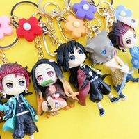 Keychain Demon Kimetsu No Yaiba Anime Cosplay 3d Rubber Hanger Funny Cartoon Toys Rare Poison