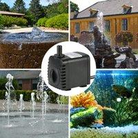 Pompe à eau submersible de 600L / h 8W pour les fontaines d'aquarium Pondernes et systèmes hydroponiques avec 2 buses AC220-240V Décorations de jardin