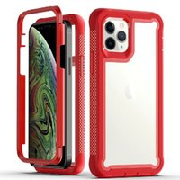Transparent 3 in 1 Hybrid Acrylic PC TPU Shockproof Cases For Iphone 12 11 7 8 Plus XS Max Samsung S21 S20 S10 Note 20 Ultra Moto G Stylus Power G8 Play LG K51 Stylo 6 HARMONY4