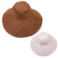 Çift taraflı olabilir !!! 7 Katı Renkler Kova Geniş Brim Şapka Balıkçı Şapka Güneş Sokak Açık Spor Gelgit Kapaklar Bahar Güz Yaz LLA682