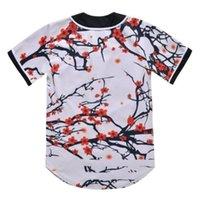Baseball Jersey Men Stripe Short Sleeve Street Shirts Black White Sport Shirt AI912