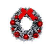 Decorative Flowers & Wreaths Ornament Christmas Decorations Wreath Pendant Ornaments Pine Front Door 24 Inches PVC Flocking Artificial Livin