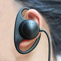 D-образные наушники для уха Наушники 3,5 мм Слушайте наушники для слушателя Наушники для радиоугольника Наушники Наушники Проводная односторонняя моно-гарнитура