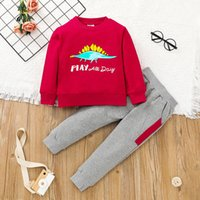 Boys Clothing Set Dinosaur Tops+Trousers Outfits Fall 2021 Children Boutique Clothes 1-6T Kids Cotton Long Sleeves 2 PC Suit Casual Fashion