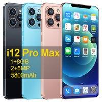 CUlular I12 PRO MAX 1GB + 8 GB Smartphone 6.7inch U-Bildschirm Android 8.1 5800mAh Big Battery Unlocked Mobiltelefon Mobilephone Telefon