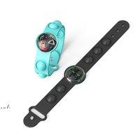 Squid Game Push its Keychain Fidget Toys Bracelet Finger Bubble Decompression Toy RRE10482