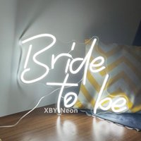 Other Event & Party Supplies Custom Neon Sign Bride To Be Wedding Flex Led Light Yard Garden Store Room Decoration