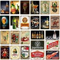 Métal Peinture Jack Whisky Whisky Tin Signes Panneau de bière Bar Pub Casino Décoration Art Plaque Retro Tavern Accueil Décor Wall Yj162