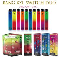 Bang XXL Switch Duo Cigarettes jetables 2in1 2500 Puffs 7ml 1100mAh 6% Pods d'huile 8 couleurs VS Randm Pro Dazzle Air Bar à air Max Puff Plus Flow