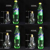 새로운 LED 전구 물병 플라스틱 우유 주스 물병 일회용 누출 방지 음료 컵 뚜껑 크리 에이 티브 drinkware 도매 416 v2