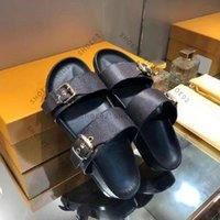 Yüksek kaliteli tasarımcı terlik slaytlar Sandalet yaz daireler seksi gerçek deri platform ayakkabı bayanlar plaj ayakkabı02 01