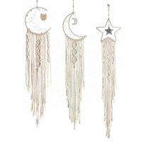 Qifu Moon Star Хлопок Ручной плетеный гобелен EID Mubarak Party Decor Ramadan Kareem Decor Исламская мусульманская партия поставляет EID AL ADHA