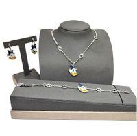 70% OFF Luxury Jewelry gujia Necklace 2021 new double simple bracelet earrings men's and women's fashion cartoon suit batch FHWZ