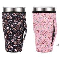 Drinkware مقبض 31 نمط 30oz قابلة لإعادة الاستخدام الجليد القهوة الأكمام غطاء النيوبرين معزول الأكمام حامل حالة حقائب الحقيبة ل 32oz بهلوان FWF8631