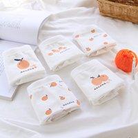 Panties Ugly orange # fruit sweet girl's briefs all cotton crotch underwear bag buttos pure middle waist women's 8032