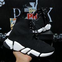 أعلى جودة المصممين الفاخرة أحذية أزواج الرجال النساء أزواج الجوارب سرعة 2.0 المدرب الثلاثي s حذاء رجل إمرأة في الهواء الطلق منصة الأحذية عارضة