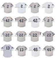 1999 Retro 2 Derek Jeter Jersey 13 Alex Rodriguez 42 Mariano Rivera 22 Roger Clemens 46 Andy Pettitte 2001 WS Vintage Baseball Jerseys