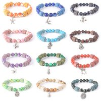 volcanic stone beaded bracelet strands European and American colored alloy girlfriend sisters Jewelry Gift 1166 B3