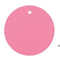 Круглый силиконовый изоляционный площадкой стол Wok чаша горшок пластины коврик приготовления посуды кухонные аксессуары против ожогов не скольжения Placemat HWe7092