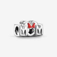 100% 925 Sterling Silber Maus Bogen Mama Charms Fit Original Europäischen Charme Armband Mode Frauen Hochzeit Engagement Schmuck Zubehör