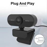 Cameras Full HD 1080P USB Web Camera Plug & Play Webcam With Built-in Microphone Multi-Compatible For Video Conferencing Class Recording