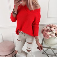 Women's Sweaters Liva Girl Women Sweater Fashion Autumn Kint Solid Loose Casual Pullovers Coat Female Blouse Knit
