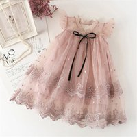 Lace Flower Girls Dress Summer Tulle Princess Party Wedding Pageant Formal Tutu Kids Dresses For Baby Girl Clothes Girl's