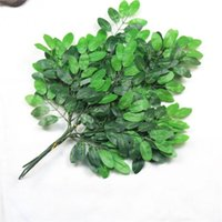 Artificial Green Leaf Plants 50 Leaves 3 Branches Tree Silk Stem Wedding Garden Home Decoration Decorative Flowers & Wreaths