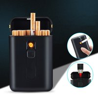 Cases Smoking Aessories Household Sundries Home & Gardencases 20Pcs Capacity Case With Usb Electronic Cigar Holder Lighter Regar Cigarette G