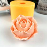 HC0291 Pront rose flower stampo decorazione pianta sapone stampi fiori stampi in silicone fioritura rosa candela stampi bouquet rendendo argilla 210721