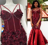 2021 Plus Size Arabic Aso Ebi Luxurious Mermaid Burgundy Prom Dresses Beaded Lace Sexy Evening Formal Party Second Reception Bridesmaid Gowns Dress ZJ660