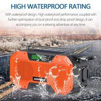 Radio Emergency 5000mAh Solar Hand Crank Portable AM FM NOAA SOS With &Reading Lamp Cell Phone Charger
