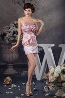 Bridesmaid Dress 2021 Arrival Fashion Design Handmade Flower Mini Real Custom Size color Short Pink Sexy