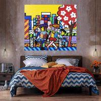 Árbol de familia Decoración para el hogar Pintura al óleo sobre lienzo Handcrafts / HD Print Wall Art Foto de personalización es aceptable 21053139