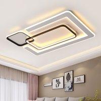 أضواء السقف LED الحديثة غرفة المعيشة Luster Luster دي Plafond Moderne لاعبا اساسيا Plafonnier أبيض أسود LED السقف مصباح الإضاءة