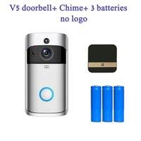 No Logo V5 Doorbell Accueil Vidéo sans fil 720p HD WiFi Intelligent Bidon de vision de la nuit de vision de vision de la nuit avec contrôle de l'application