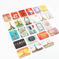 24 PCS París Torre Lugares de Vistas Frigorífico Imanes Conjunto Refrigerador Pegatinas Magnéticas Francia Travel Souvenir Home ZHL4804