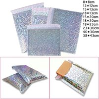 Packing Bags 1pcs Silver Bubble Mailers Padded Envelopes,Multi-function Bags,Bubble Mailing Metallic Packaging F2Q1