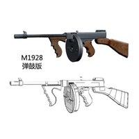 1: 1 مقياس طومسون m1928 بندقية نموذج papercraft لعبة diy 3d ورقة ورقة نموذج العسكرية اللعب اليدوية لصبي هدية